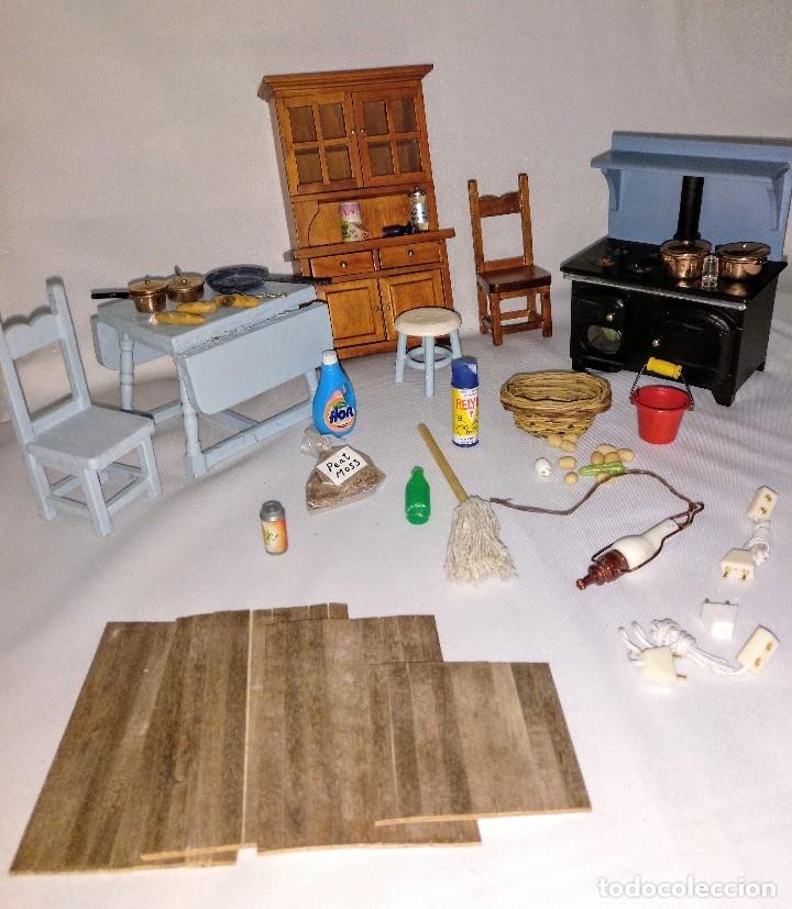 Muebles miniatura escala 1:12 para casa de muñecas,cocina