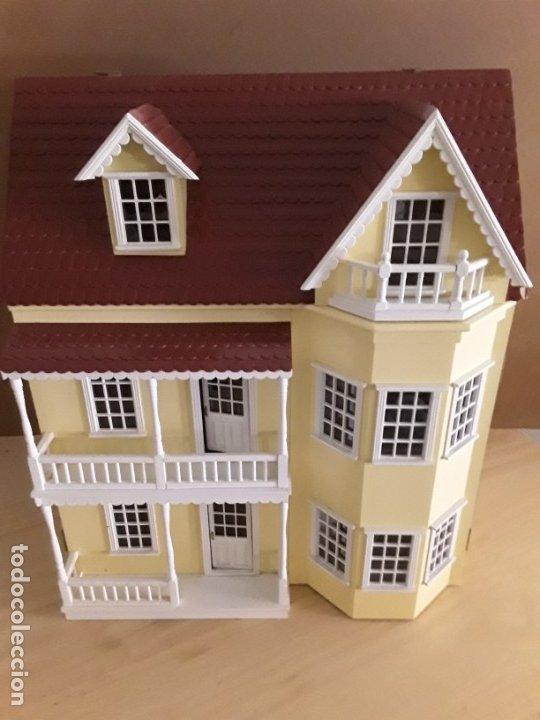 Gran Casa De Mu U00f1ecas Victoriana Con Muchos Acce