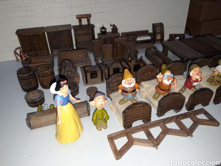 Casas de Muñecas: LOTE MUEBLES Y FIGURAS COLECCION BLANCANIEVES Y LOS SIETE ENANITOS CASA MUÑECAS DISNEY PLANETA - Foto 2 - 176067384