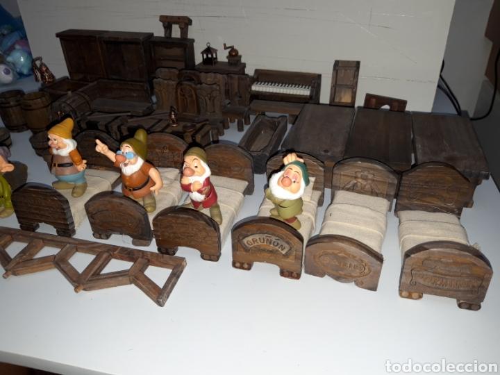 Casas de Muñecas: LOTE MUEBLES Y FIGURAS COLECCION BLANCANIEVES Y LOS SIETE ENANITOS CASA MUÑECAS DISNEY PLANETA - Foto 3 - 176067384