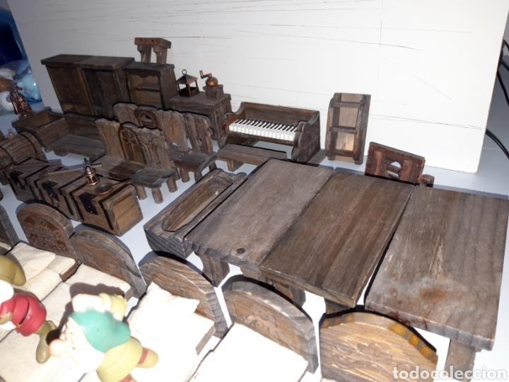 Casas de Muñecas: LOTE MUEBLES Y FIGURAS COLECCION BLANCANIEVES Y LOS SIETE ENANITOS CASA MUÑECAS DISNEY PLANETA - Foto 5 - 176067384