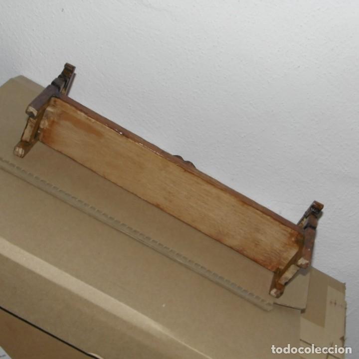 Casas de Muñecas: Escaño o banco de madera para muñecas. - Foto 5 - 176276182