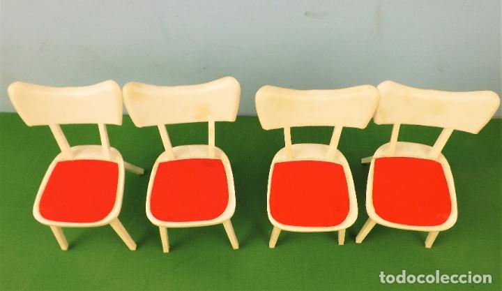 Casas de Muñecas: Hogarin conjunto de 4 sillas - Foto 2 - 177680632