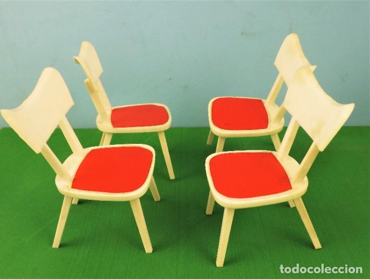 Casas de Muñecas: Hogarin conjunto de 4 sillas - Foto 3 - 177680632