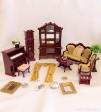 Casa De Muñecas en Miniatura Banco de diácono Roble Oscuro Escala 1:12 Mueble De Madera