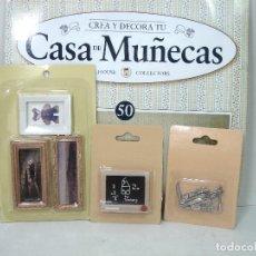 Casas de Muñecas: DOLLHOUSE CASA DE MUÑECAS-CUADROS PIZARRA CUBIERTOS-COLLECTORS-MUEBLE PIEZA CREA Y DECORA VICTORIANA. Lote 181350811