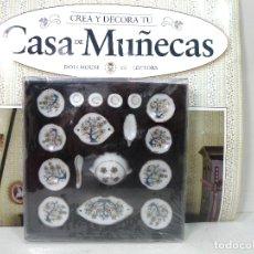 Casas de Muñecas: DOLLHOUSE CASA DE MUÑECAS- VAJILLA CERAMICA -COLLECTORS- MUEBLE PIEZA CREA Y DECORA VICTORIANA. Lote 181351422