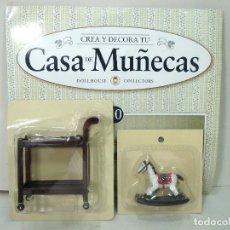 Casas de Muñecas: DOLLHOUSE CASA DE MUÑECAS-CABALLITO BALANCIN MESA CAMARERA-COLLECTORS-PIEZA CREA Y DECORA VICTORIANA. Lote 181407938