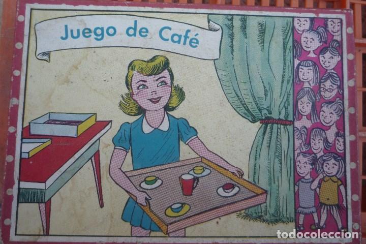 JUEGO DE CAFÉ CON 12 PIEZAS. CON CAJA ORIGINAL TAMAÑO 15X21 CM. (Juguetes - Casas de Muñecas, mobiliarios y complementos)