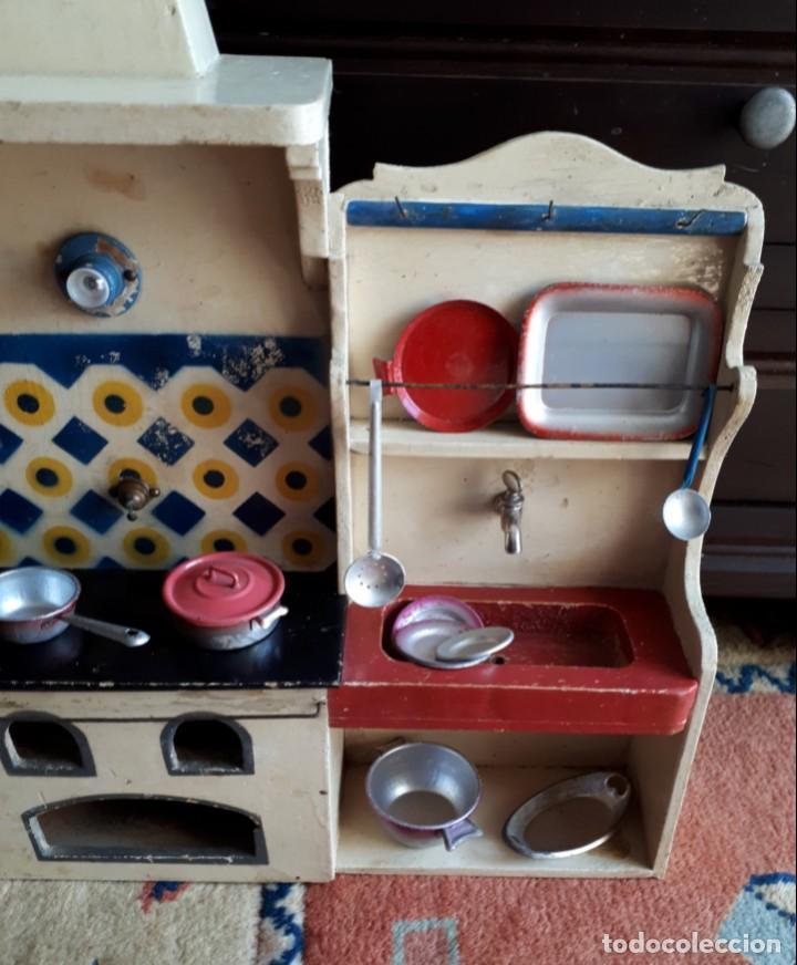 Casas de Muñecas: COCINA GRANDE DE MADERA PROBABLE DENIA - Foto 3 - 194764118
