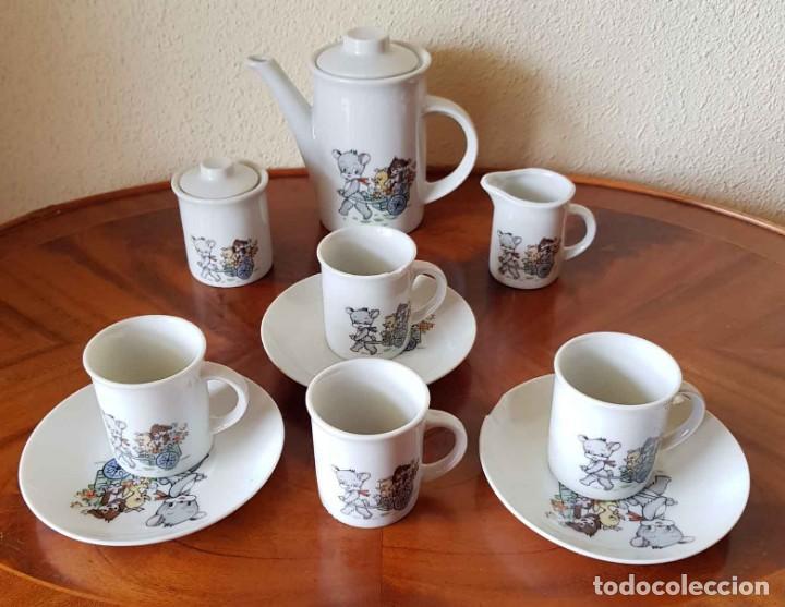 Casas de Muñecas: CAFETERA, AZUCARERO Y TAZAS ANTIGUOS PARA CASA DE MUÑECAS - Foto 3 - 195183755
