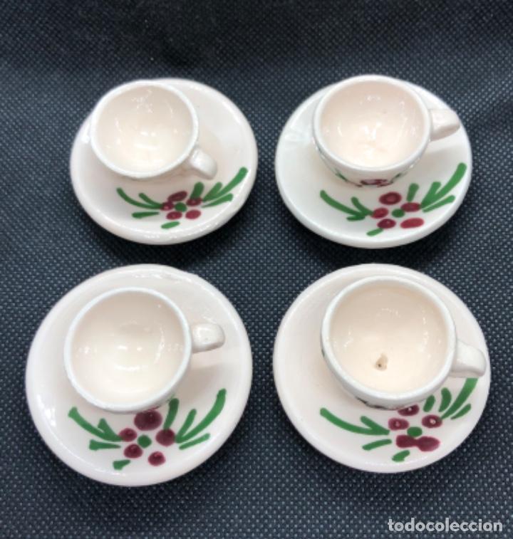 Casas de Muñecas: Juego de vajilla de café 8 piezas - Belén napolitano casa muñecas miniatura cerámica - Foto 2 - 202426553