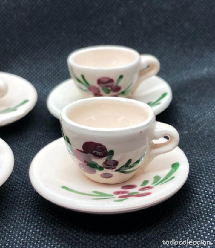 Casas de Muñecas: Juego de vajilla de café 8 piezas - Belén napolitano casa muñecas miniatura cerámica - Foto 3 - 202426553