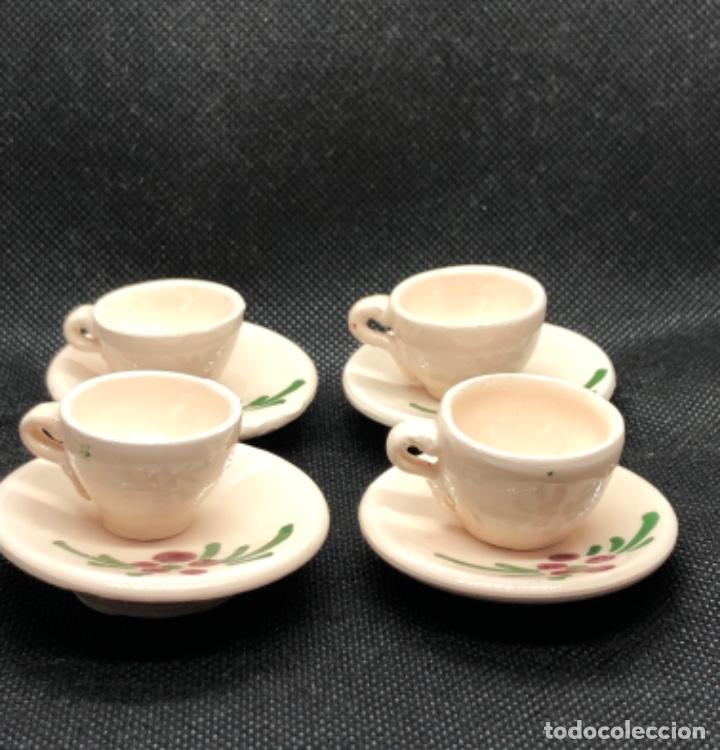 Casas de Muñecas: Juego de vajilla de café 8 piezas - Belén napolitano casa muñecas miniatura cerámica - Foto 5 - 202426553