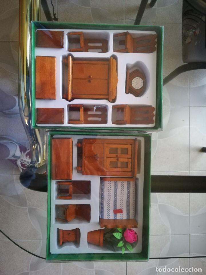 Casas de Muñecas: CONJUNTO DOS HABITACIONES MINIATURA PARA CASA DE MUÑECAS. NUEVAS - Foto 3 - 210010385