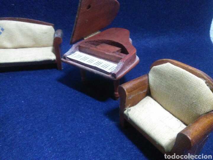 Casas de Muñecas: Lote de muebles de madera para casas de muñecas - Foto 8 - 211909673