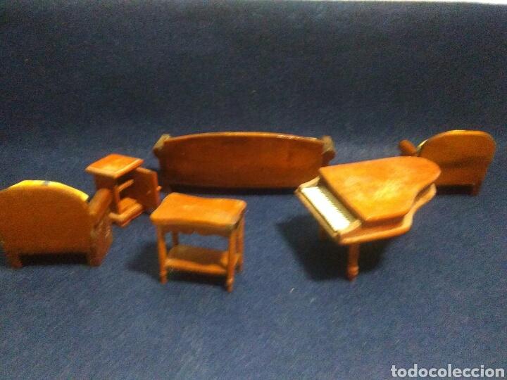 Casas de Muñecas: Lote de muebles de madera para casas de muñecas - Foto 12 - 211909673