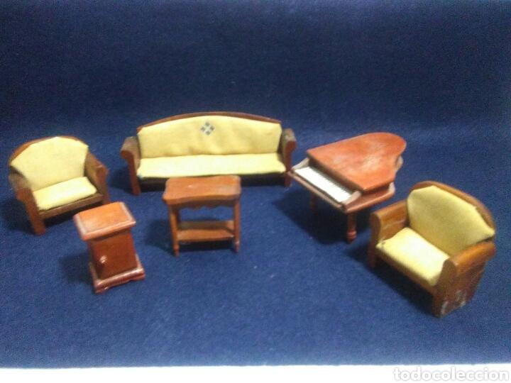 Casas de Muñecas: Lote de muebles de madera para casas de muñecas - Foto 14 - 211909673