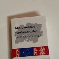 Casas de Muñecas: LIBRO MINIATURA MIS DERECHOS FUNDAMENTALES EN LA UNIÓN EUROPEA. Lote 222230475