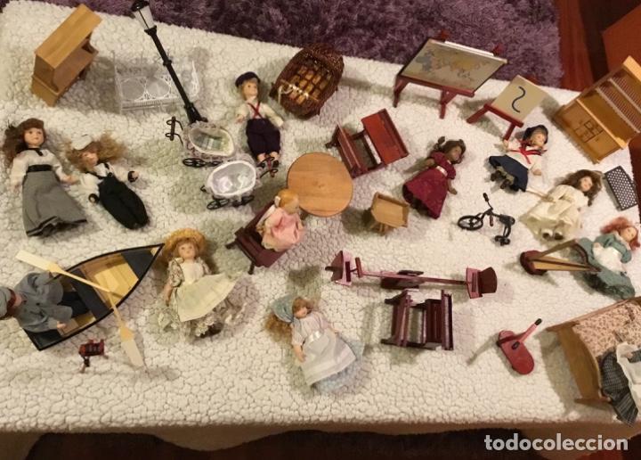 Casas de Muñecas: Lote muñecas de porcelana y complementos - Foto 3 - 222516238