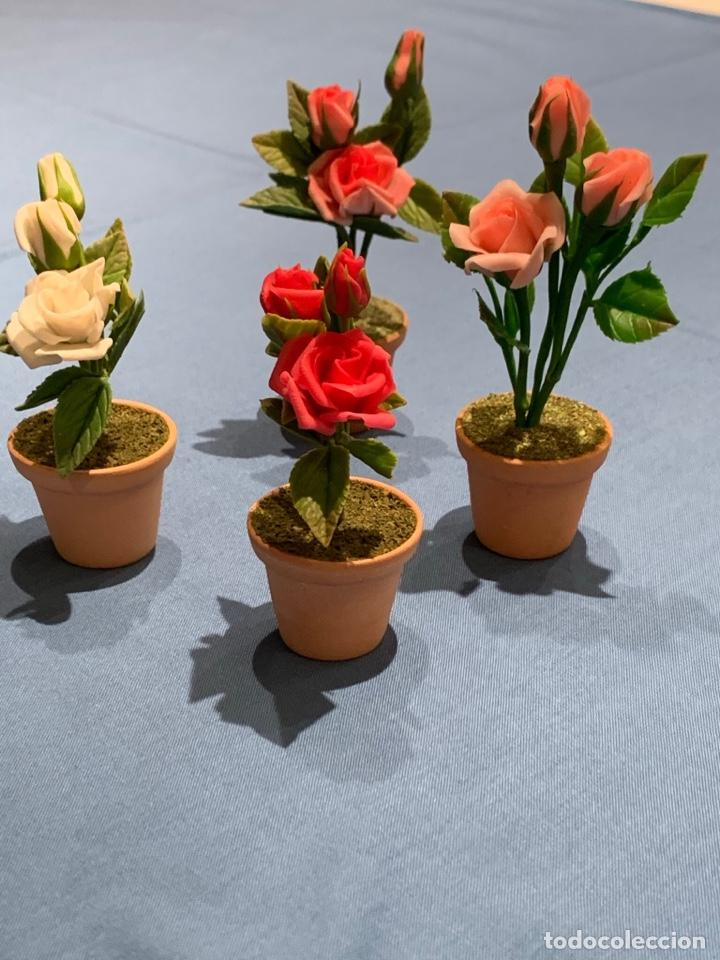 Casas de Muñecas: Hermoso Rosal en miniatura, Flor casa de muñecas o jardín de hadas. Blythe. - Foto 3 - 233587590