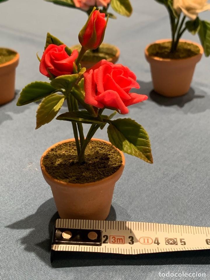 Casas de Muñecas: Hermoso rosal miniatura. Flor para casa de muñecas o jardín de hadas. Blythe. - Foto 2 - 233588675
