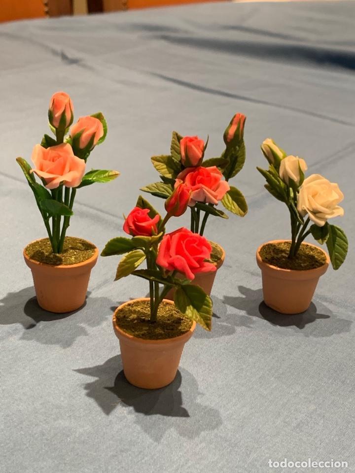 Casas de Muñecas: Hermoso rosal miniatura. Flor para casa de muñecas o jardín de hadas. Blythe. - Foto 3 - 233588675
