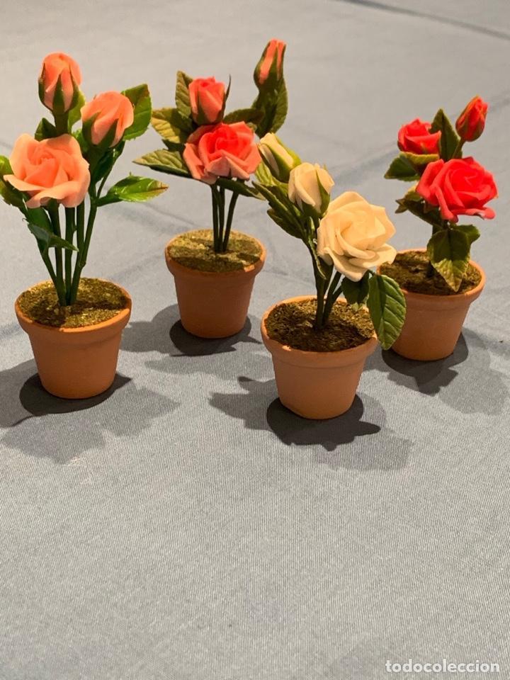Casas de Muñecas: Hermoso rosal miniatura. Flor para casa de muñecas o jardín de hadas. Blythe. - Foto 5 - 233588675