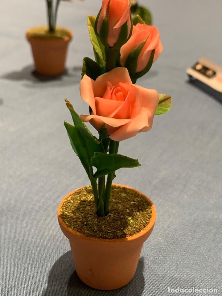 Casas de Muñecas: Hermoso rosal color rosa pálido en miniatura. Flor para jardín de hadas o casa de muñecas. Blythe. - Foto 3 - 233589190
