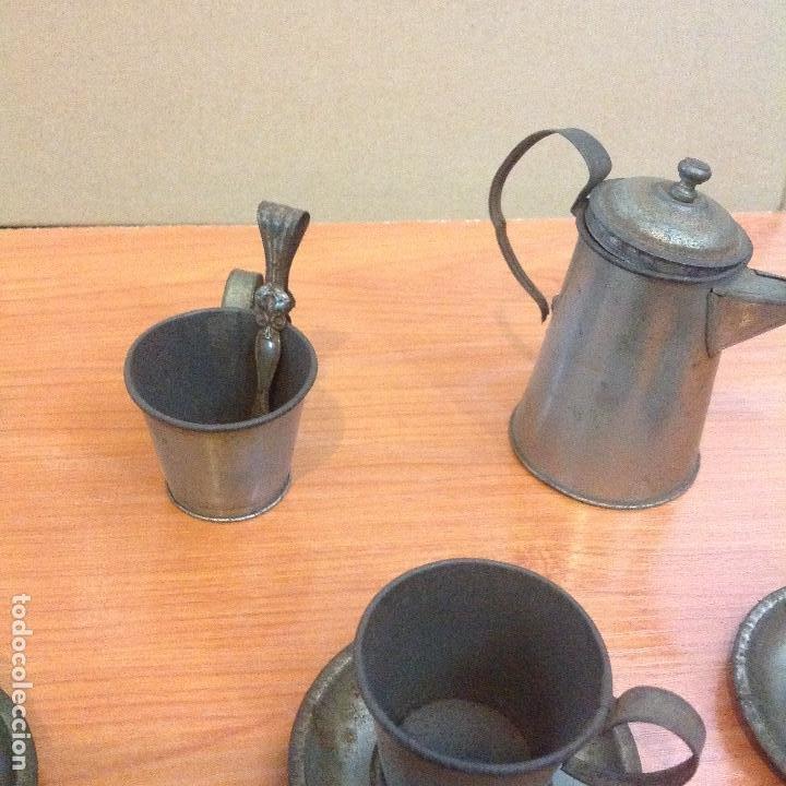 JUEGO COMPLETO DE 4 SERVICIOS DE CAFE (Juguetes - Casas de Muñecas, mobiliarios y complementos)