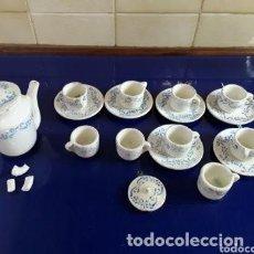 Casas de Muñecas: ANTIGUO JUEGO DE CAFÉ EN CERÁMICA. Lote 262666560