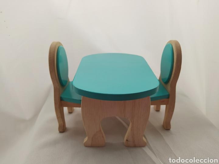 Casas de Muñecas: Mesa y sillas De madera de casa de muñecas - Foto 2 - 264084160