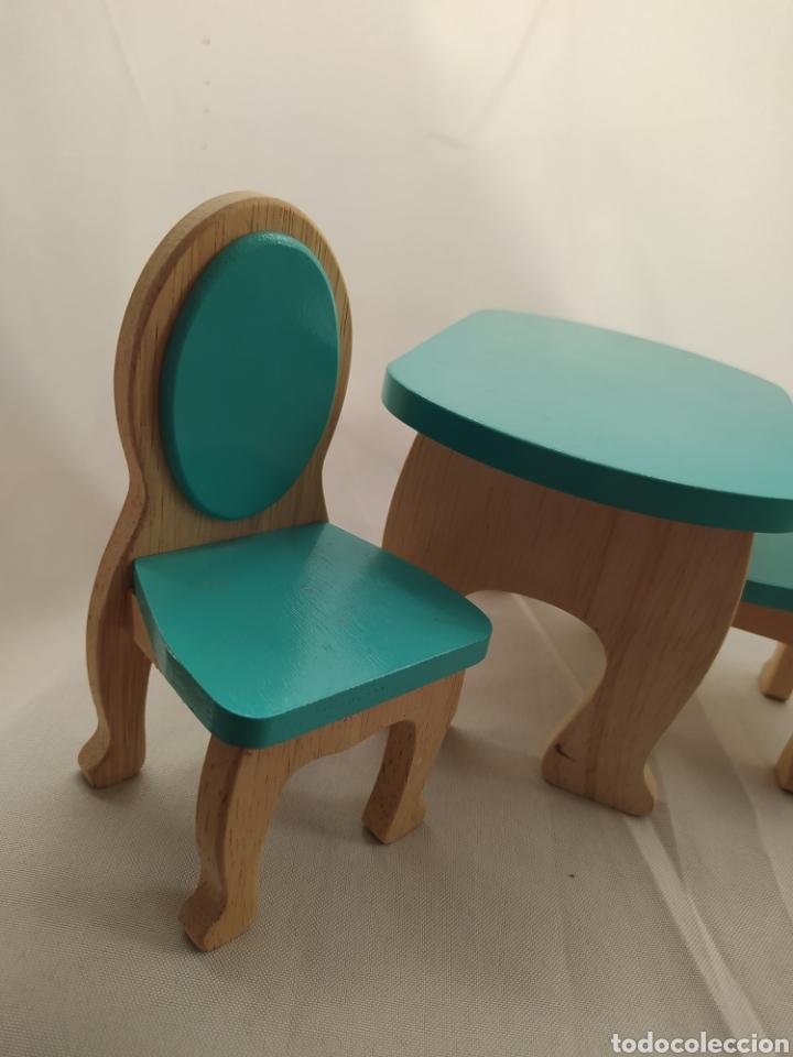 Casas de Muñecas: Mesa y sillas De madera de casa de muñecas - Foto 3 - 264084160