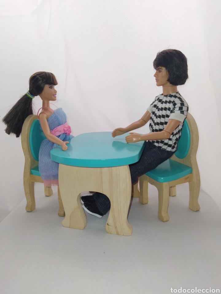 Casas de Muñecas: Mesa y sillas De madera de casa de muñecas - Foto 4 - 264084160