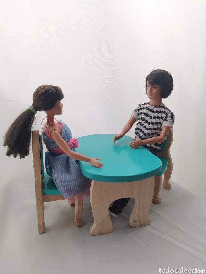 Casas de Muñecas: Mesa y sillas De madera de casa de muñecas - Foto 5 - 264084160