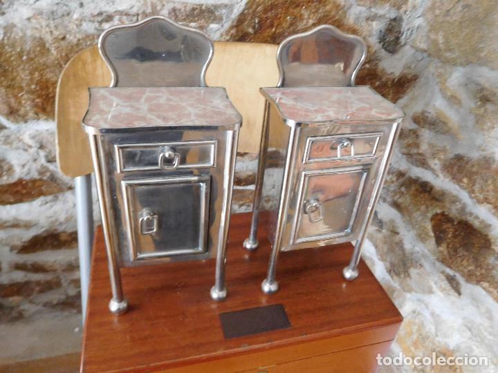 Casas de Muñecas: Conjunto para casa de muñecas o similar metal niquelado años 20 - Foto 13 - 264453939