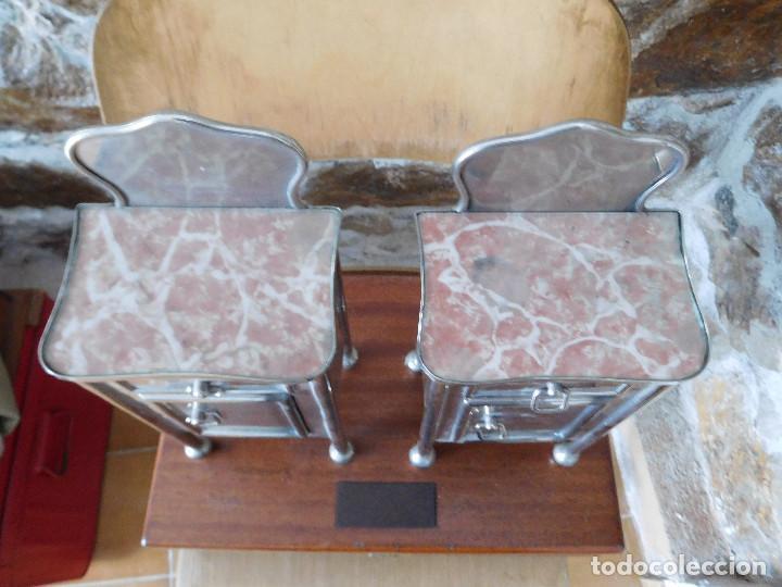 Casas de Muñecas: Conjunto para casa de muñecas o similar metal niquelado años 20 - Foto 14 - 264453939