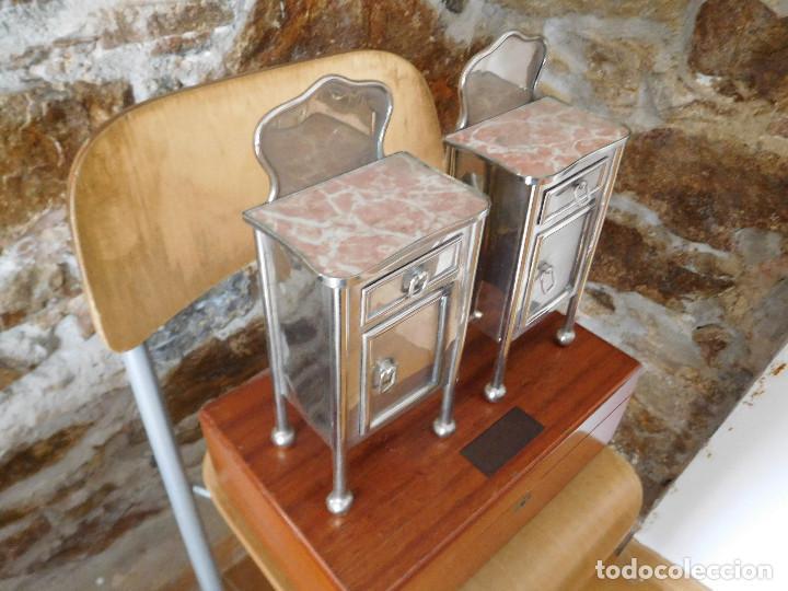 Casas de Muñecas: Conjunto para casa de muñecas o similar metal niquelado años 20 - Foto 15 - 264453939