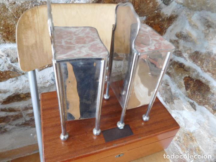Casas de Muñecas: Conjunto para casa de muñecas o similar metal niquelado años 20 - Foto 17 - 264453939