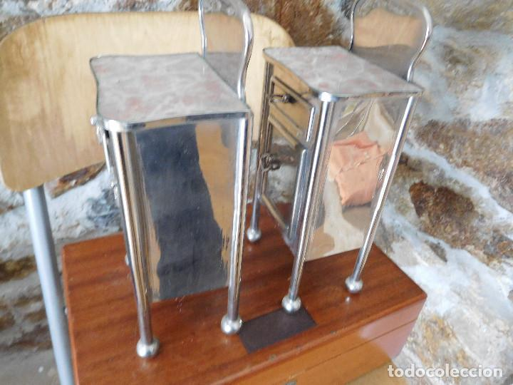 Casas de Muñecas: Conjunto para casa de muñecas o similar metal niquelado años 20 - Foto 19 - 264453939