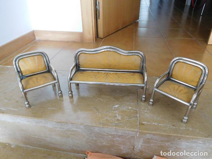 Casas de Muñecas: Conjunto para casa de muñecas o similar metal niquelado años 20 - Foto 25 - 264453939