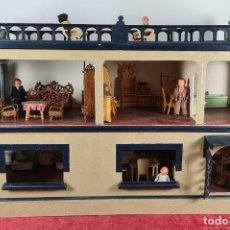 Casas de Muñecas: CASA DE MUÑECAS COMPLETA. 2 PLANTAS. 6 ESTANCIAS Y TERRAZA. SIGLO XX.. Lote 271075848