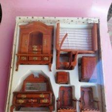 Casas de Muñecas: MUEBLES CASA MUÑECAS AÑOS 50 SIN USAR. Lote 288451598