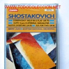 Casetes antiguos: CASETTE SHOSTAKOVICH - SYMPHONY Nº9 OP. 70. SUITE FROM KATERINA ISMAILOVA. Lote 17151776