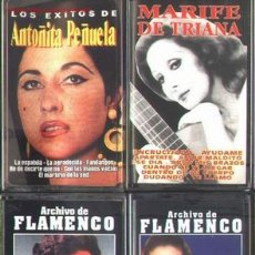 Casetes antiguos: LOTE 4 CASSETTES FLAMENCO CANTAORAS. Lote 18514468