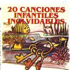 Casetes antiguos: 20 CANCIONES INFANTILES INOLVIDABLES CASETE. Lote 5792755