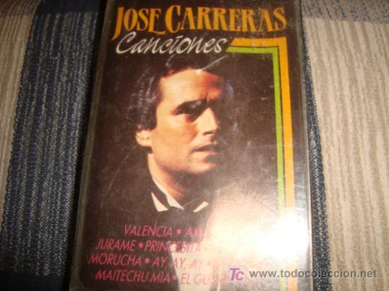 CASETE, JOSE CARRERAS, CANCIONES (Música - Casetes)