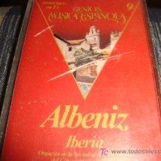 Casetes antiguos: GENIOS DE LA MUSICA ESPAÑOLA, ALBENIZ. Lote 14099337