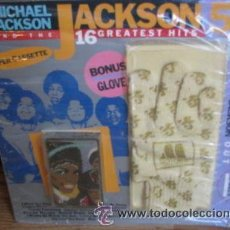 Casetes antiguos: MICHAEL JACKSON AND JACKSON FIVE / 16 GREATEST HITS / CASSETT+ GUANTE / PRECINTADO. Lote 17410282