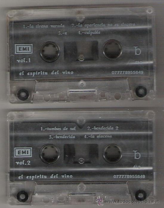 Casetes antiguos: HEROES DEL SILENCIO ESPIRITU DEL VINO EDI MEX k7 - Foto 2 - 23169491